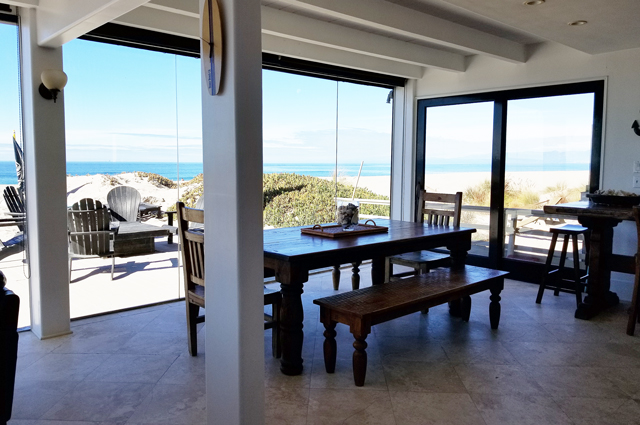 Dining room in beach rental